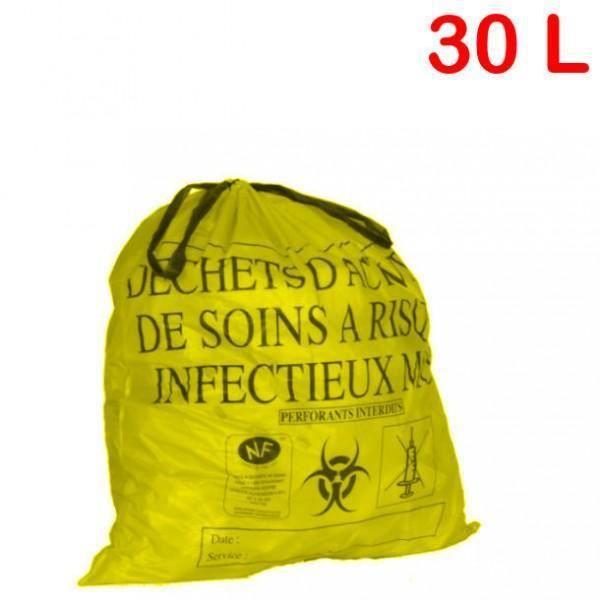 25 sacs dasri jaune 30 litres achat vente collecteur de dechets 25 sacs dasri jaune 30 litr. Black Bedroom Furniture Sets. Home Design Ideas