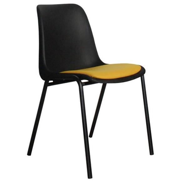 Chaise zuiver back to gym noire et ocre achat vente chaise acier nylon cdiscount for Chaise zuiver