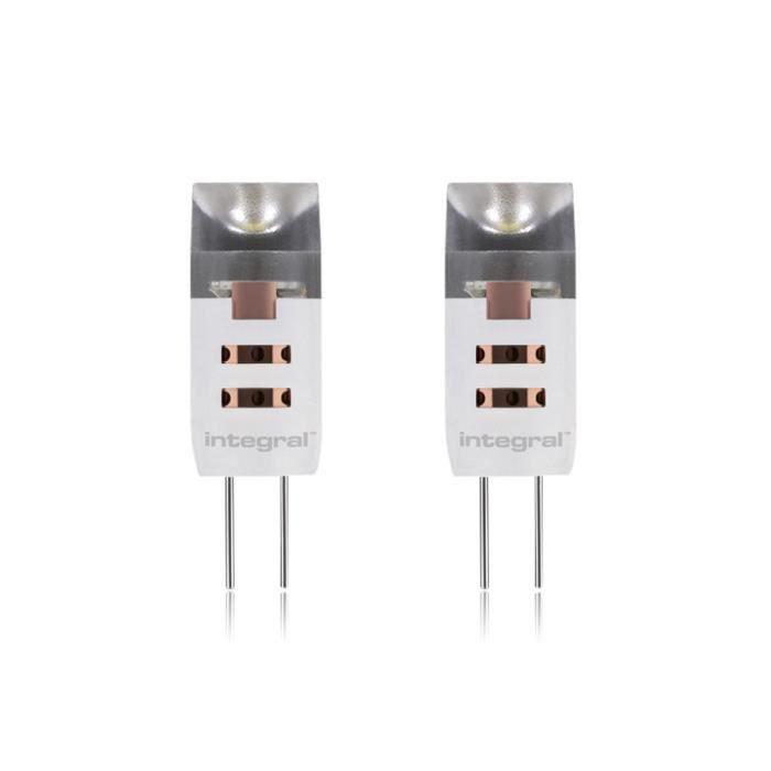 integral led lot de 2 ampoules g4 90lm 1 5w quivalent 10w 12v achat vente ampoule led. Black Bedroom Furniture Sets. Home Design Ideas