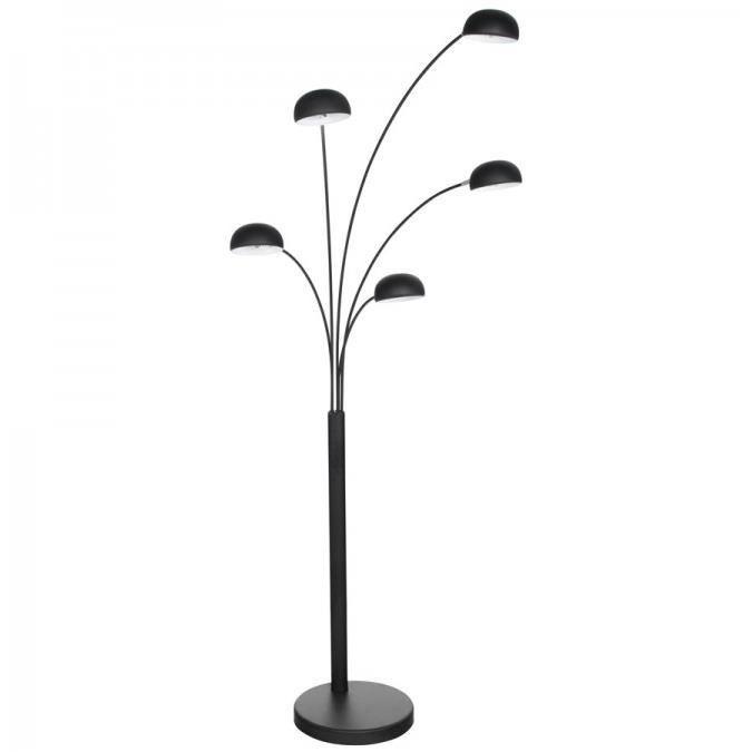 Lampadaire 5 branches lucce noir achat vente lampadaire 5 branches lucc - Lampadaire 3 branches ...