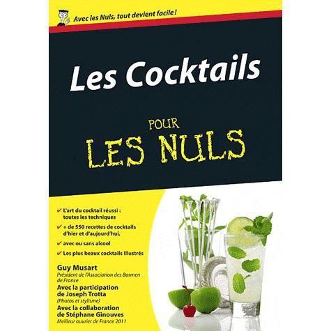 Les Cocktails Pour Les Nuls Achat Vente Livre Guy