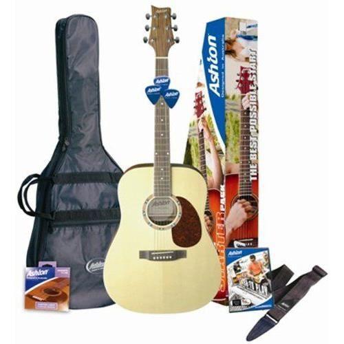Ashton D25 Pack guitare folk Avec accordeur intégré & accessoires