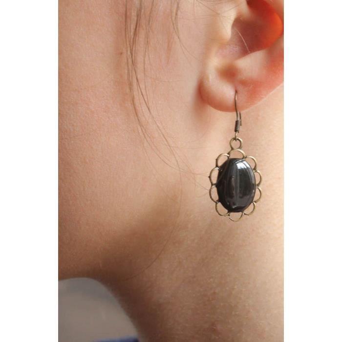 boucles d oreilles en resine epoxy et glacure de achat. Black Bedroom Furniture Sets. Home Design Ideas