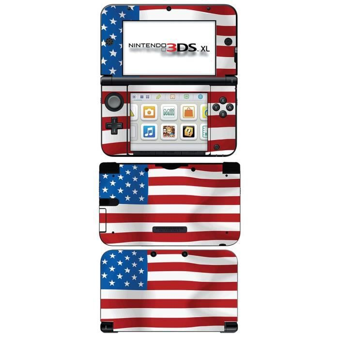 skin stickers pour nintendo 3ds xl sticker american. Black Bedroom Furniture Sets. Home Design Ideas