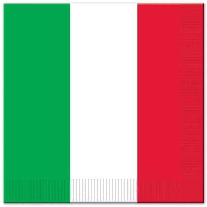 Serviettes de table italie x16 achat vente serviette - Presentation serviette de table ...