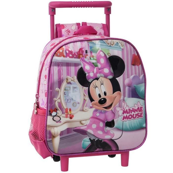 sac a dos trolley minnie mouse 25cm rose achat vente. Black Bedroom Furniture Sets. Home Design Ideas