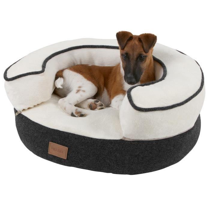 kerbl lit douillet leonardo 50cm pour chien gris et blanc achat vente corbeille coussin. Black Bedroom Furniture Sets. Home Design Ideas