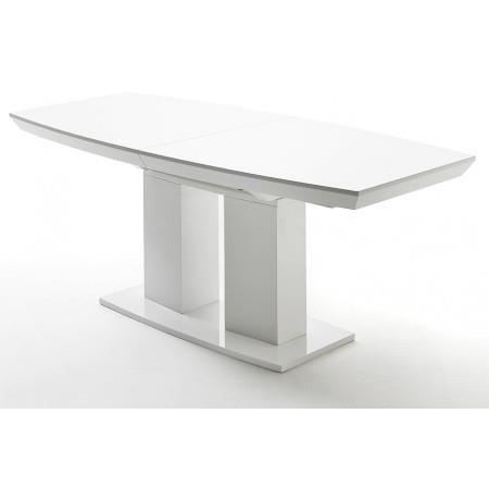 Table manger extensible blanc laqu woods 180 achat for Table haute blanc laque