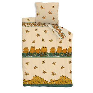 parure de lit pour fille et gar on abeille et grenouilles. Black Bedroom Furniture Sets. Home Design Ideas