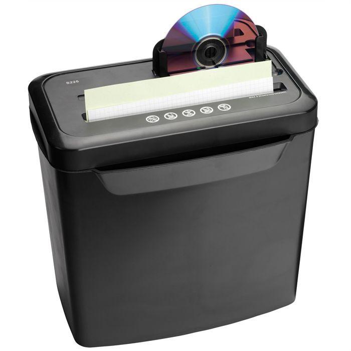 ednet destructeur de documents et cd avec corbeill achat. Black Bedroom Furniture Sets. Home Design Ideas