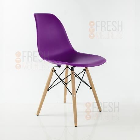 chaise inspiration eames dsw bois de h tre violet achat vente chaise cdiscount. Black Bedroom Furniture Sets. Home Design Ideas