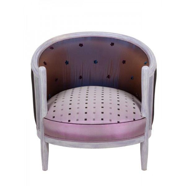 fauteuil tonneau 1930 design achat vente fauteuil cdiscount. Black Bedroom Furniture Sets. Home Design Ideas