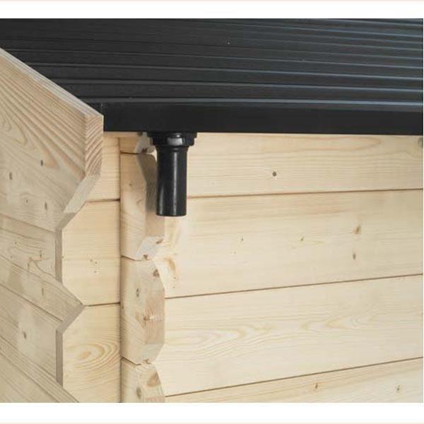 goutti re pour abri en bois soleil toit pvc 3x2 m achat vente abri jardin chalet goutti re. Black Bedroom Furniture Sets. Home Design Ideas