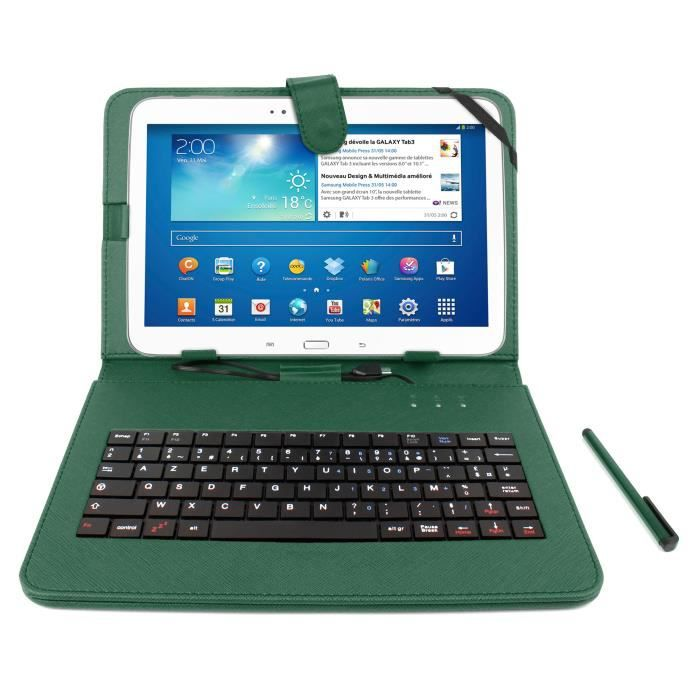 etui vert clavier pour samsung galaxy tab s 10 1 prix. Black Bedroom Furniture Sets. Home Design Ideas