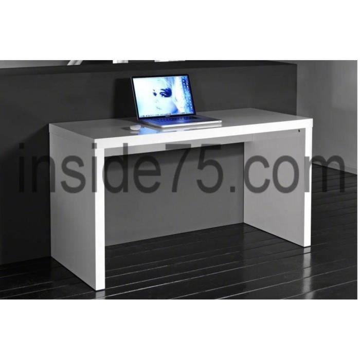 Bureau Design Laqu Blanc Contemporain Achat Vente