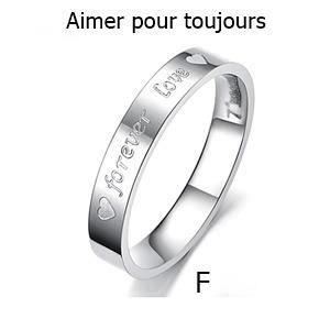Bague anneau alliance ACIER INOXYDABLE, Titane, femme et homme. FEMME ...