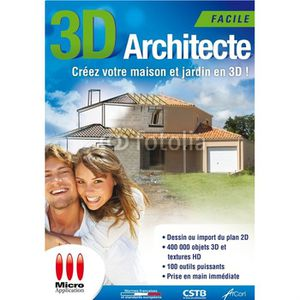 logiciel architecte 3d prix pas cher cdiscount. Black Bedroom Furniture Sets. Home Design Ideas