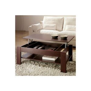 Table basse relevable wenge achat vente table basse relevable wenge pas cher cdiscount - Table basse relevable cassidy ...