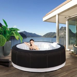 Jacuzzi spa gonflable family 6 8 places achat vente spa complet kit spa - Jacuzzi gonflable avis ...