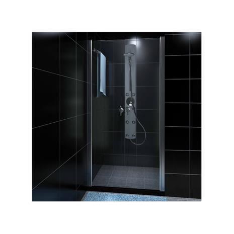 Porte de douche battante 80cm en verre de s curit - Porte battante en verre ...