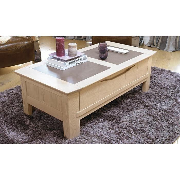 Table basse bois massif beaumont achat vente table for Table basse bois massif