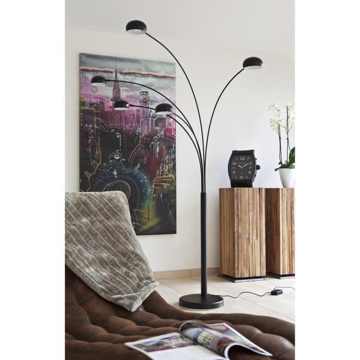 Salesfever lampadaire 5 branches noir avec variateur five doigt achat v - Lampadaire 5 branches ...