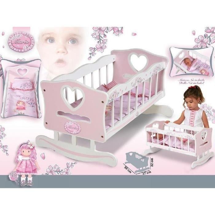 decuevas toys lit b b bascule bois maria achat vente maison poup e les soldes sur. Black Bedroom Furniture Sets. Home Design Ideas