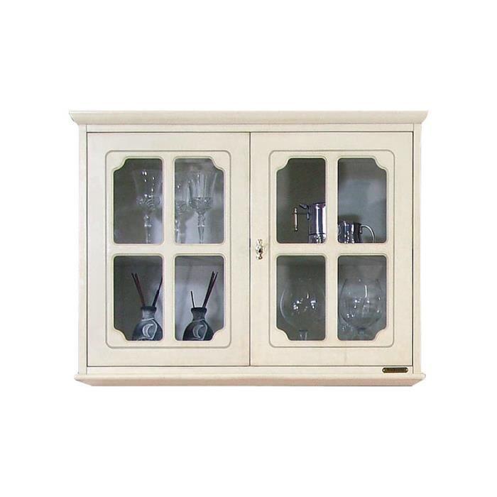 Vitrine murale 2 portes meuble suspendu achat vente vitrine argentier - Meuble 2 portes pas cher ...