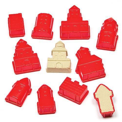 Moules ch teaux loisirs cr atifs pour les enfants lot de 10 achat vente sable a coller - Loisirs creatifs pour enfants ...