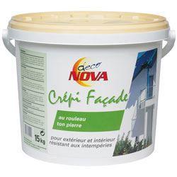 Deco nova crepi facade 15kg pierre achat vente for Peinture crepi exterieur