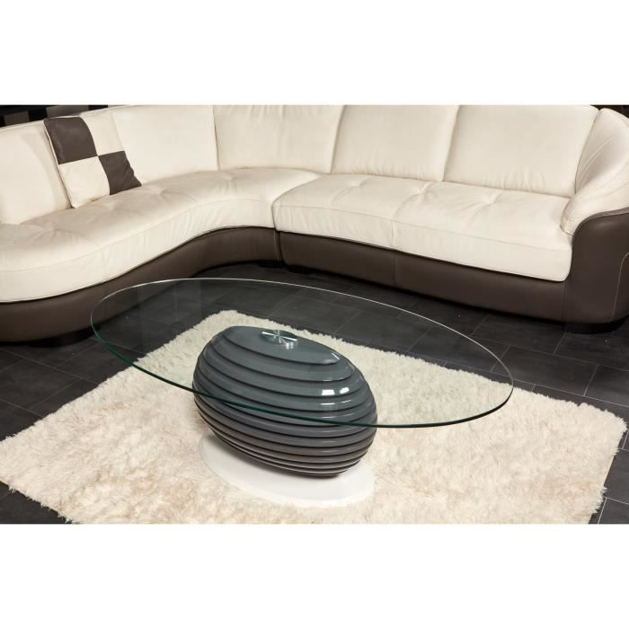 Table basse verre fly images - Table basse ovale verre ...