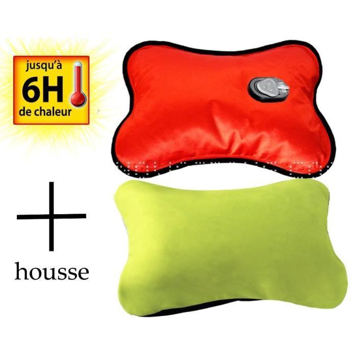 Bouillotte magique lectrique housse vert achat for Housse bouillotte