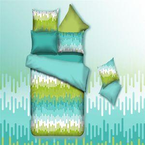 parure de lit 220x240 vert achat vente parure de lit. Black Bedroom Furniture Sets. Home Design Ideas