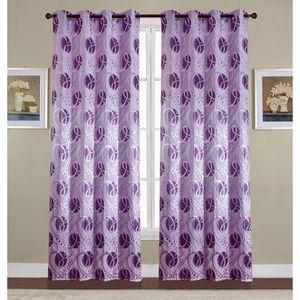 rideaux imprime en 260 cm de hauteur achat vente rideaux imprime en 260 cm de hauteur pas. Black Bedroom Furniture Sets. Home Design Ideas