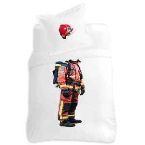 HOUSSE DE COUETTE Housse de couette 140x200cm et une taie Pompier Bi