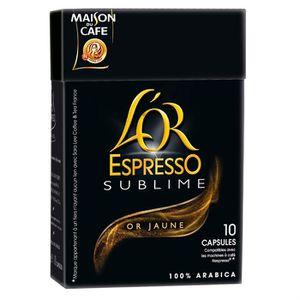 CAFÉ - CHICORÉE L'OR Sublime Or Jaune 10 dosettes