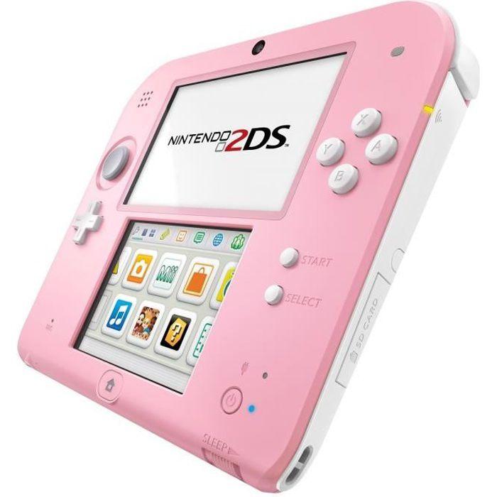 2ds rose et blanche achat vente console 2ds console nintendo 2ds rose bl cdiscount - Console 3ds xl blanche avec mario kart 7 ...