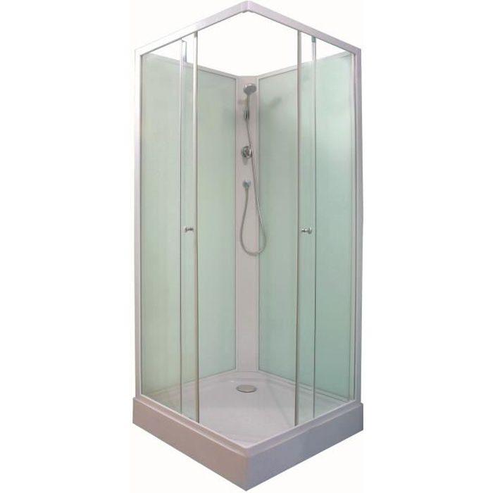 Cabine de douche int grale minea vert d 39 eau 80x80 achat - Cabine de douche cdiscount ...