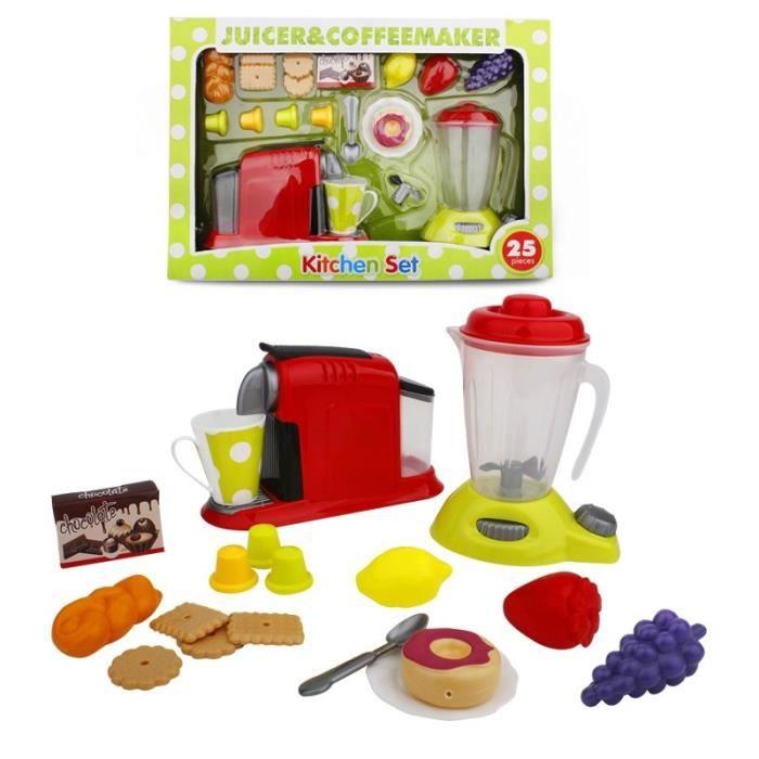 lot de jouets de cuisine cafeti re pressoir jus jouet imitation d ette cadeau pour enfant. Black Bedroom Furniture Sets. Home Design Ideas