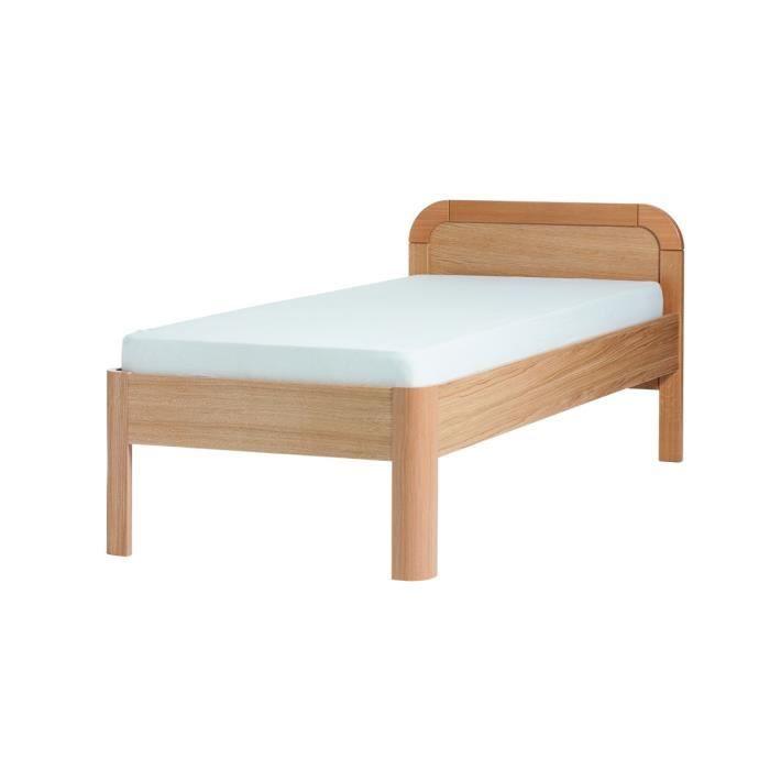 lit en ch ne rousset 120 x 200 cm achat vente lit. Black Bedroom Furniture Sets. Home Design Ideas