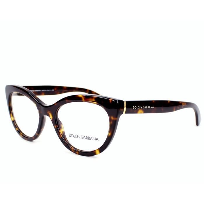 lunettes de vue dolce gabbana dg3197 502 havane or or achat vente lunettes de vue. Black Bedroom Furniture Sets. Home Design Ideas