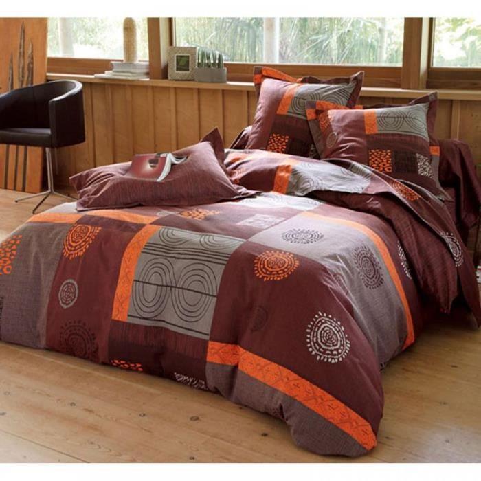 drap plat 1 personne en flanelle d cor patchwork excedence achat vente drap plat cdiscount. Black Bedroom Furniture Sets. Home Design Ideas