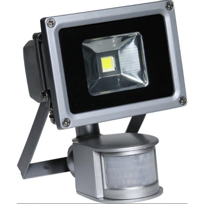 Projecteur 1 led 10w avec d tecteur de mouvement achat for Projecteur avec detecteur de mouvement