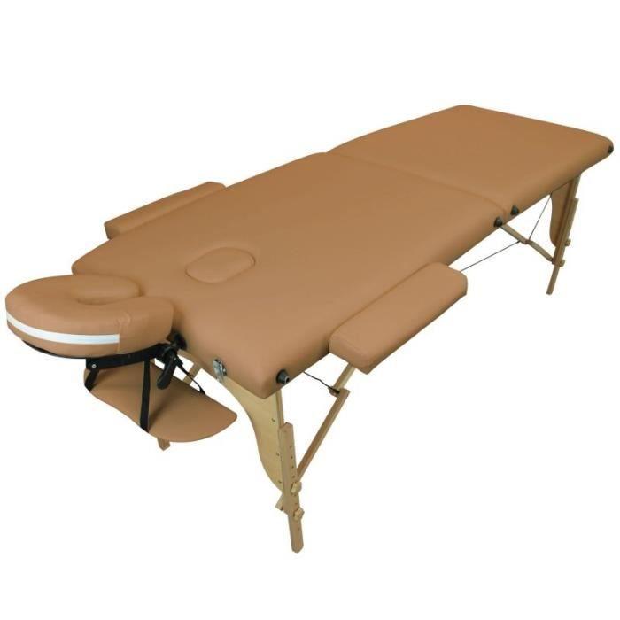 Table de massage pliante en bois 2 zones marron clair achat vente table de massage table de - Table de massage pliante d occasion ...