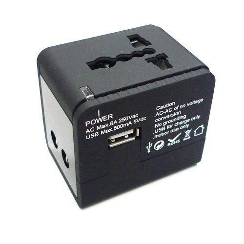 maximal power adapter550 adaptateur universel de prise lectrique ac avec prise usb utilisable. Black Bedroom Furniture Sets. Home Design Ideas