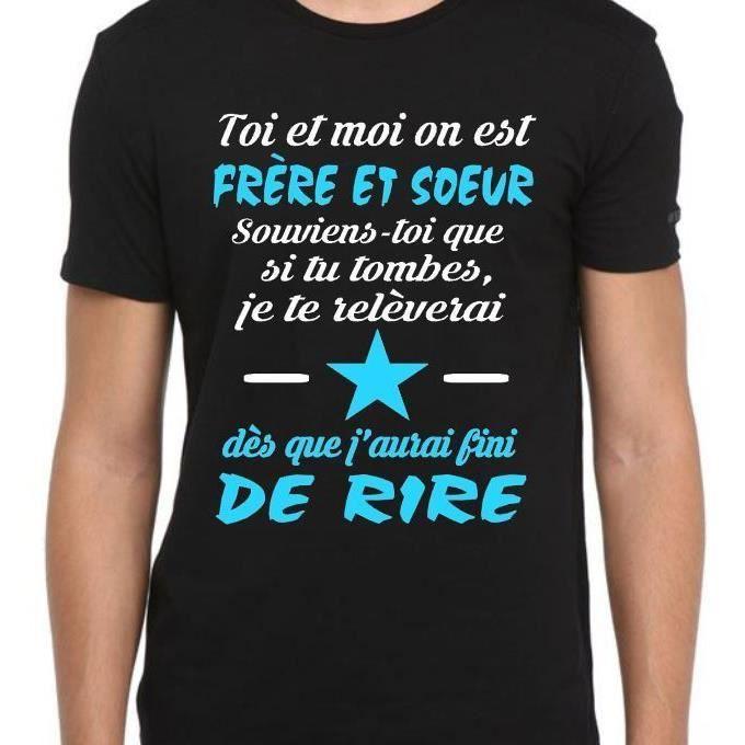Tee-shirt personnalisé toi et moi on est frère et soeur - idée ...