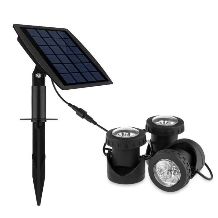 3pcs solaire aliment par rgb led sous marin lumi re projecteur lampe sous marine clairage de for Lampe solaire jardin aulnay sous bois