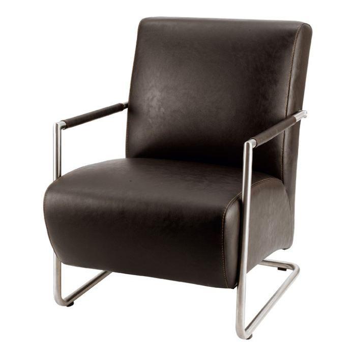 Fauteuil hakone marron zago achat vente fauteuil marron cdiscount - Fauteuil confident achat ...