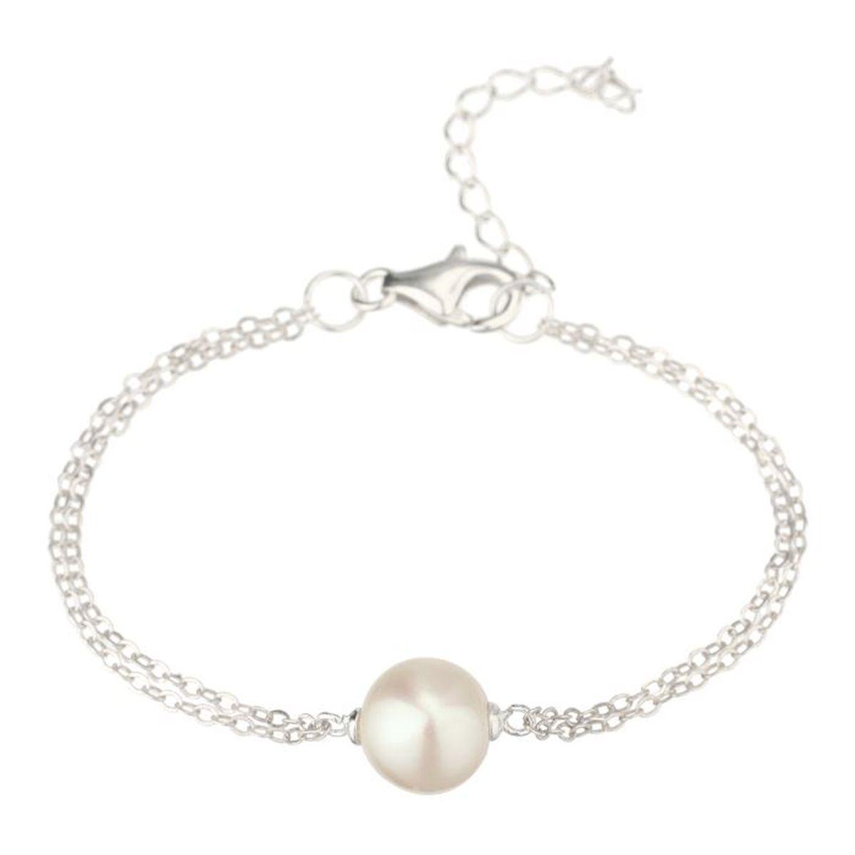 nacre de perle bracelet argent 925 et perle femme argent achat vente bracelet gourmette. Black Bedroom Furniture Sets. Home Design Ideas