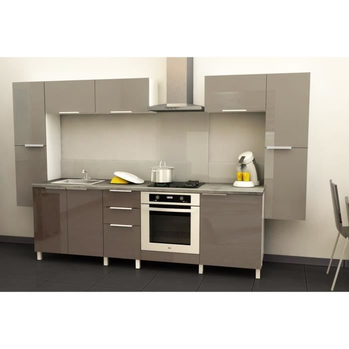 Object moved for Cuisine taupe brillant